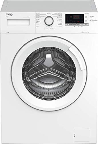Beko WML61633NPS1 Waschmaschine/Multifunktionsdisplay/Startzeitvorwahl/ 1600 U/min/10 Jahre Motorgarantie, Pet Hair Removal/Nachlegefunktion/ 6 kg, weiß