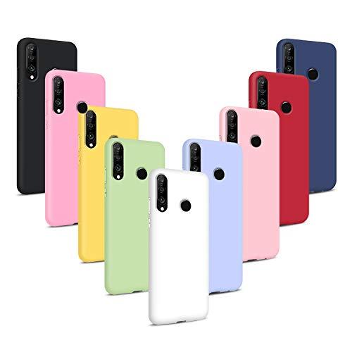 9X Cover per Huawei P30 Lite, Morbido Silicone Case Tinta Unita Ultra Sottile Custodia TPU Flessibile Gomma Protezione Posteriore Antiscivolo Protettiva Skin Caso - 9 Colori