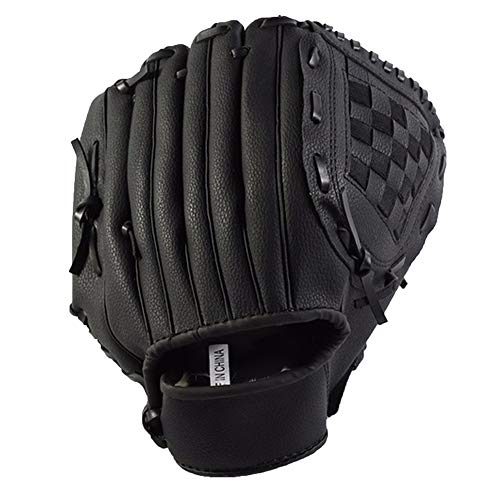alsu3luy02Ld Thicken Infield Pitcher Baseball-Handschuh, strapazierfähiges Softball-Trainingsgerät L Schwarz