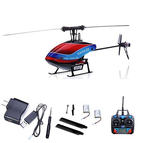 HSP Himoto Profi 6-Kanal RC Ferngesteuerter Hubschrauber mit 3D-Flug und 2.4GHz, Wasp CP Auto Helikopter mit neuestem Gyroscope, Ready-to-Fly inkl. Mega Ersatzteil-Set