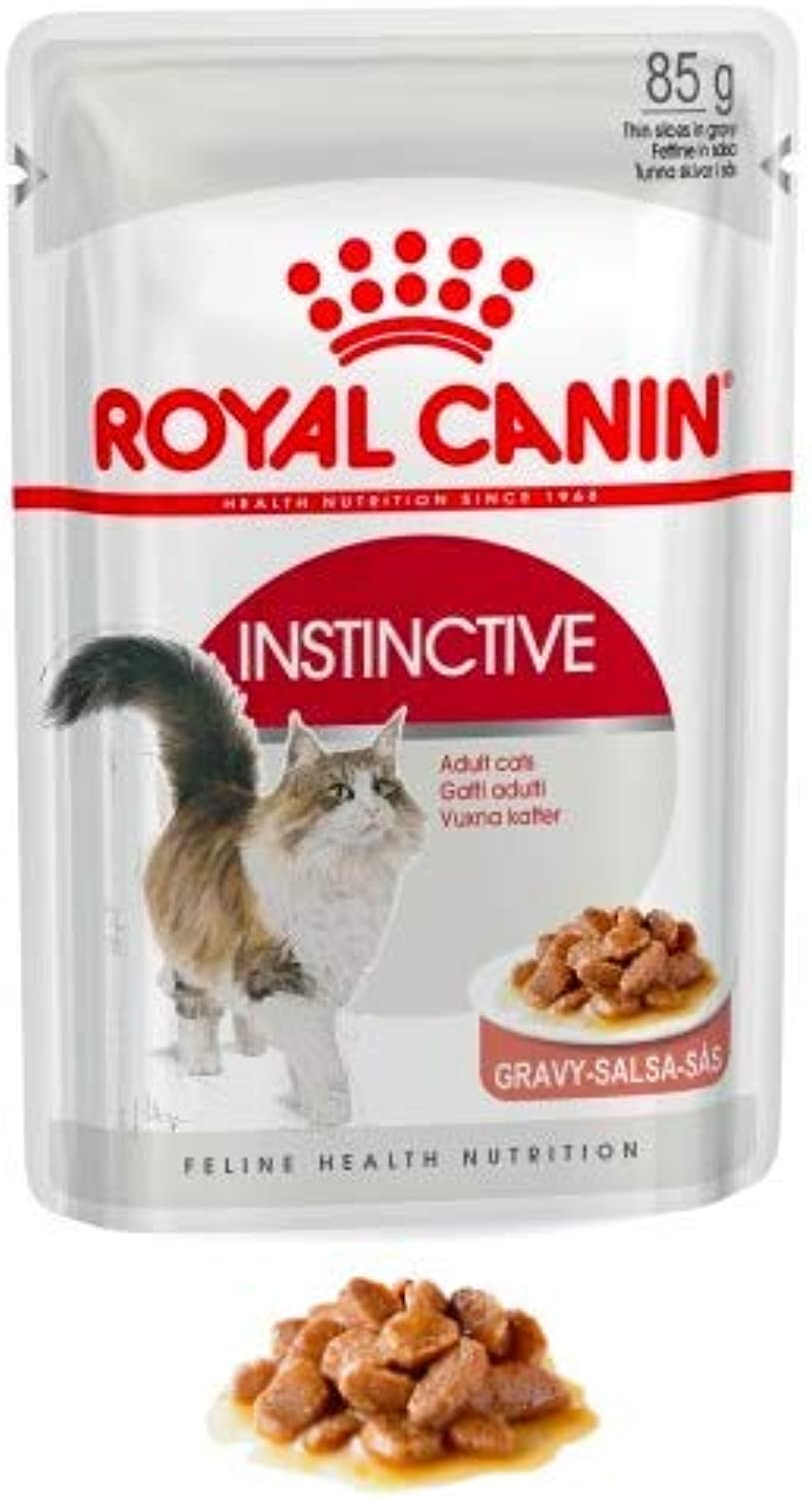 Maltbys' Stores 1904 Limited 48 x 85g (wet pouch) Royal Canin INSTINCTIVE (IN GRAVY) Size Health Nutrition Cat Food