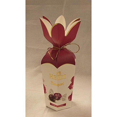 Heidi Bouquet Pralinen Dark & Cherry 120g Packung (dunkle Schokolade mit Kirsche)