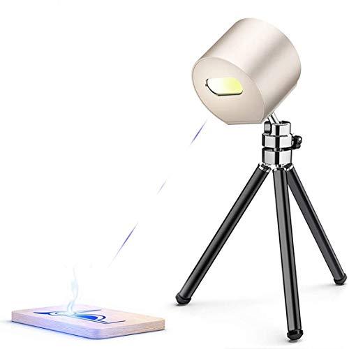 Mini Strumenti per incisione laser portatile CNC, macchina per incisione laser compatta 1.6W con occhiali protettivi, stampante laser per incisore laser per fai da te, arte artigianale (Gold)