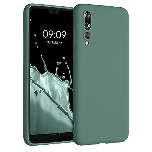 kwmobile Carcasa para Huawei P20 Pro - Funda para móvil en TPU Silicona - Protector Trasero en Verde Bosque