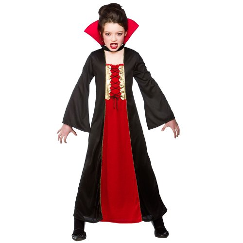 Gothic Vampire Child's Halloween Fancy Dress Costume Size Small 3-4 years (110-122cm)