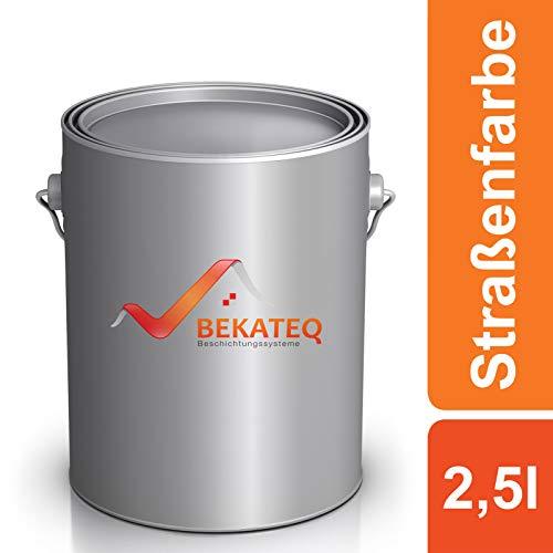 BEKATEQ LS-820 Straßenmarkierungsfarbe seidenmatt, 2,5l Weiss, Markierungsfarbe, Fahrbahnmarkierung, Parkplatzmarkierung