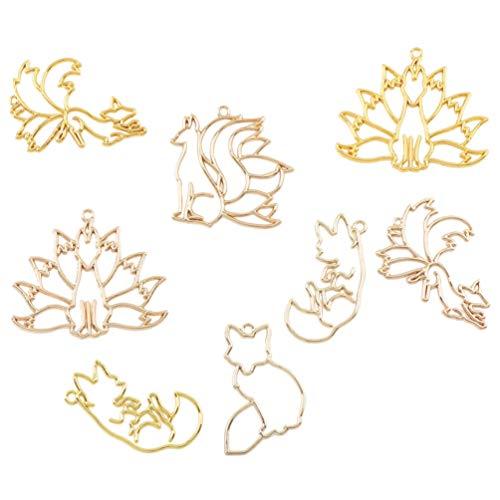 EXCEART Colgante 8 Piezas con Adornos en Forma de Animal Pulsera Joyería DIY Accesorios para Hacer Manualidades
