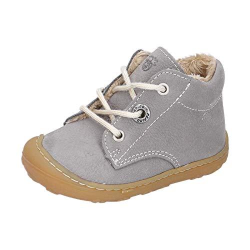 RICOSTA Unisex - Kinder Lauflern Schuhe CORANY von Pepino, Weite: Mittel (WMS),terracare, schnürstiefelchen flexibel,Graphit,26 EU / 8 Child UK