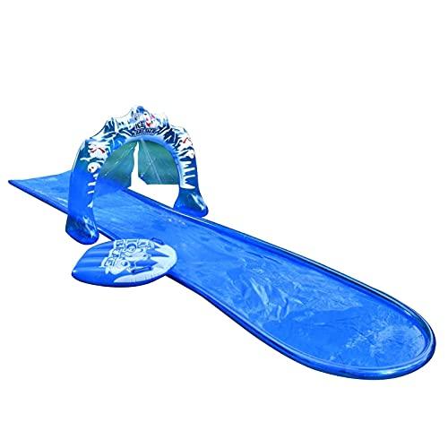 Tablecloth Wasserrutsche Doppelspurrutsche Rasen Wasserrutsche Garten Aufblasbarer Splash Pool Rennbahn Lange Wasserrutsche Wasserrutsche Spray Sommer Spielzeug für Kinder und Erwachsene