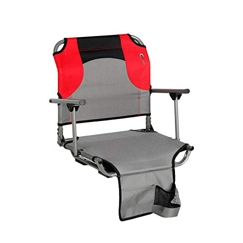 Portal Arm Rest Tension Portable Folding Steel Stadium Seat with Cup Holder