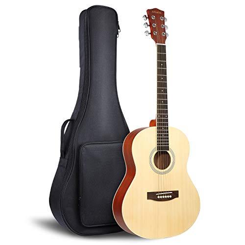 【Angebote】Gitarre Westerngitarre Akustik Afuaim 3/4 Für Einsteiger und Fortgeschrittene Dreadnought mit Tasche
