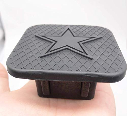 Interesting car Star Logo Trailer Hitch Tube Cover Plug Cap,Rubber Receiver Tube Hitch Plug,Trailer Hitch Cover for Toyota GMC Jeep RAM Benz ect