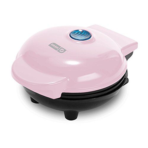 Dash Mini Maker: The Mini Waffle Maker Machine for Individual Waffles, Paninis, Hash browns, & other on the go Breakfast, Lunch, or Snacks - Pink