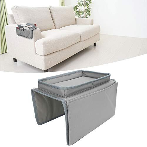 SALALIS Bolsa de Almacenamiento para sillón, Soporte de Almacenamiento para sofá, diseño Multibolsillos de Alta Capacidad, Resistente al Agua y Duradero para el Departamento de Gafas(Gris)