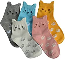 Jeasona Womens Socks Cotton Cute Animals Funny Funky Novelty Gifts for Women