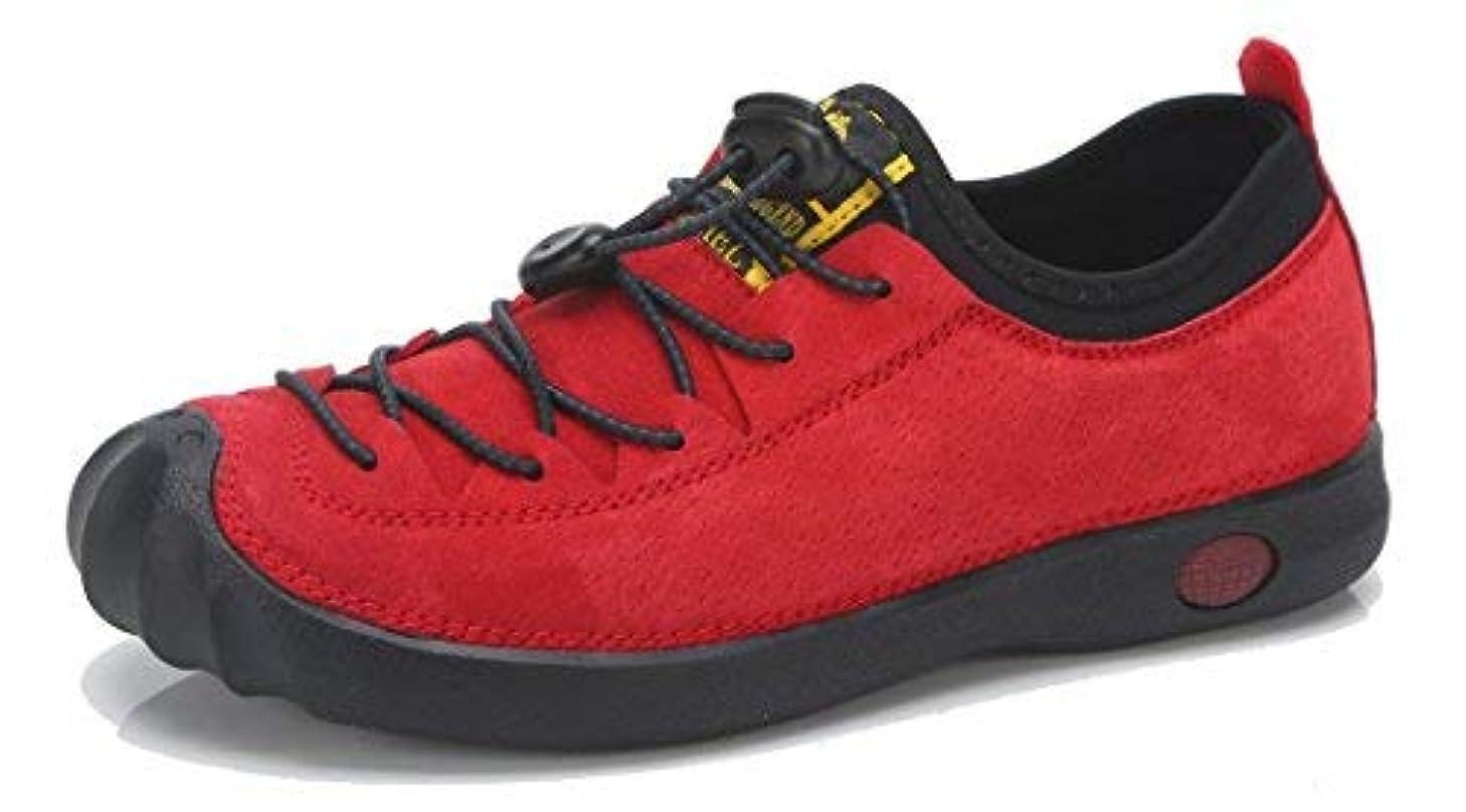 原始的な腹島CAMEL CROWN Women's Slip on Hiking Walking Shoes Lightweight Breathable Non Slip Athletic Outdoor Shoes Color Red Size 9 [並行輸入品]