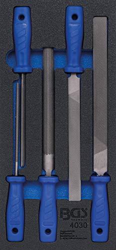 BGS 4030 | Werkstattwageneinlage 1/3: Feilen-Satz | 5-tlg.