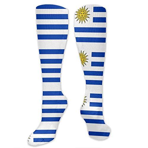 Gped Uruguay Flag Graduated Medias de Compresión for Men & Women Best Stockings for Nurses, Travel, Running, Maternity Pregnancy