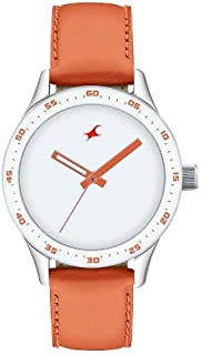 Fastrack Womens Quartz Watch, Analog Display and Leather Strap - T6078SL04