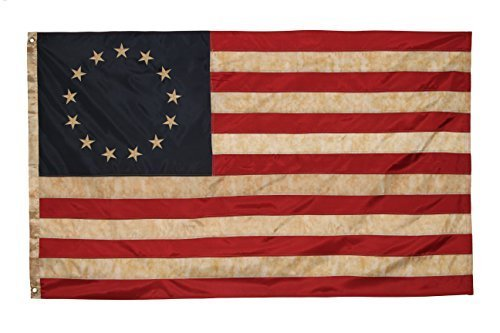 Founding Fathers Flags Betsy Ross Vintage Embroidered Flag - 3x5ft Premium Oxford Polyester
