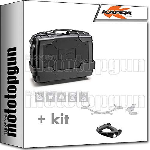 kappa maleta kgr33n garda 33 lt + portaequipaje monokey compatible con honda vfr 800 f 2020 20