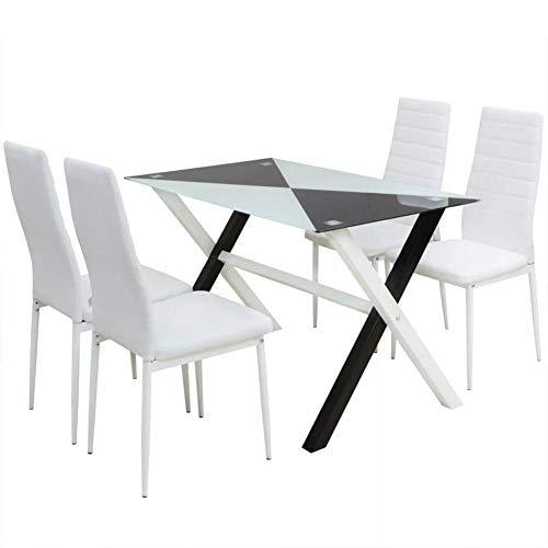Conjunto de Mesa y 4 sillas de Comedor | Alto Grado de Confo
