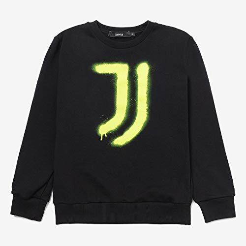 Juventus Felpa Crewneck Spray Yellow - 100% Originale - 100% Prodotto Ufficiale - Bambino - Scegli la Taglia (Taglia 14 Anni)
