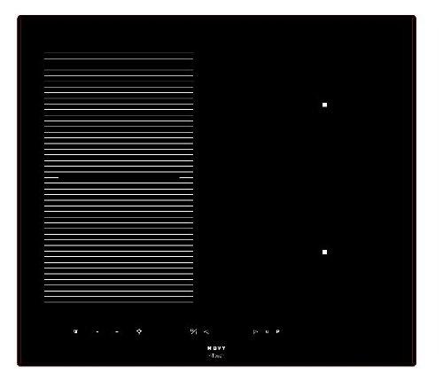 Nowy inductie Power–Platten (integriert, Induktion, Glas, Schwarz, griffig, oben vor)