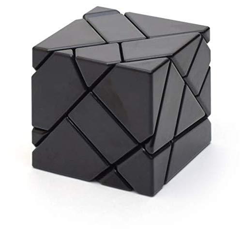 Ninja Ghost Cube 3x3 + Stickers Silver et Gold, Noir