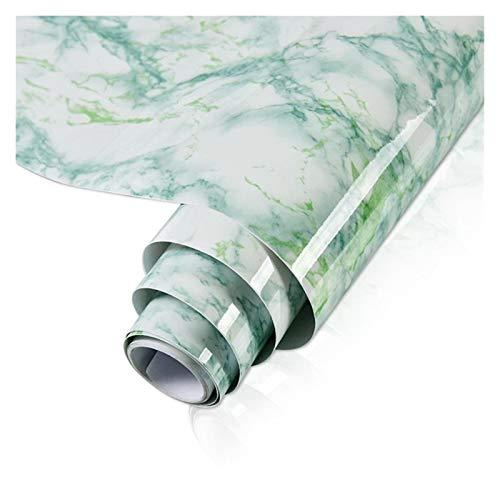 WHYBH HYCSP Marmor Vinylfilm Tapete Self Adhesive wasserdichte Wand Aufkleber for Badezimmer Küchenmöbel Renovierung Raum-Dekor-Papier (Color : Light Green, Size : 40cm x 1m)