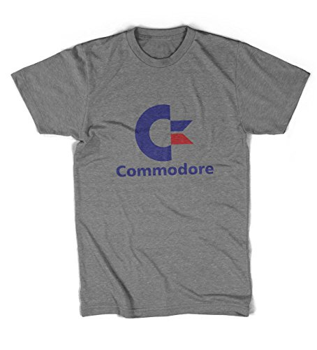 Unisex Commodore ComputersLogo T-shirt, Gray. Black and White also available