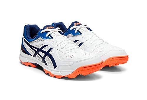 ASICS Men s White Blue Expanse Cricket Shoes 8 UK