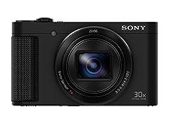 Sony DSC-HX90 kompaktkamera (30x opt. Zoom, 60x Clear Screen Zoom, 7.5cm (3 tum) Display, 5-Axel Bildstabilisator, Full HD-video) Svart