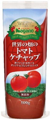 ナガノトマト 世界の畑のトマトケチャップ 500g×2袋