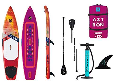 Aztron Soleil Xtreme Touring, Sup Hinchable/Windsurf Unisex Adulto, Rojo/Naranja/cucharón, 366 x 81 x 15