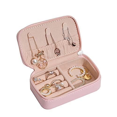 Joyero Viaje, Mini bolsa de joyería creativa, caja de almacenamiento de cuero para joyería portátil de viaje-C1