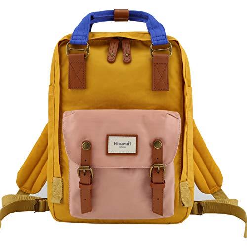 Himawari School Waterproof Backpack 14.9' College Vintage Travel Bag for Women,14 inch Laptop for Student (HM-55#)