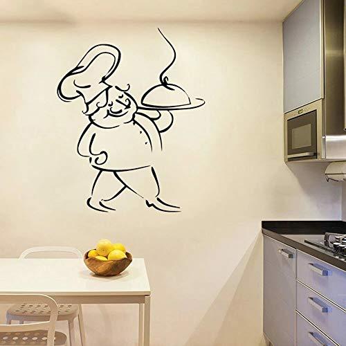 Pegatinas de pared de vinilo para el hogar francés spaghetti kitchen chef art kitchen pegatinas de pared para el hogar cocina francesa restaurante