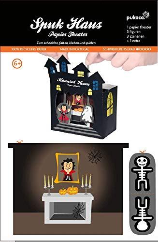 Forum Traiani Bastelbogen Geisterhaus Halloween - Pukcaka DIY Bastelbögen Papier-Karton für Kindergeburtstag als Geschenkidee, Bastelidee für Jungs