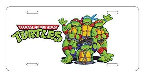 panda Teenage Mutant Ninja Turtles License Plate license frame custom Metal License Plate for Car Novelty license plate 12 inch X 6 inch