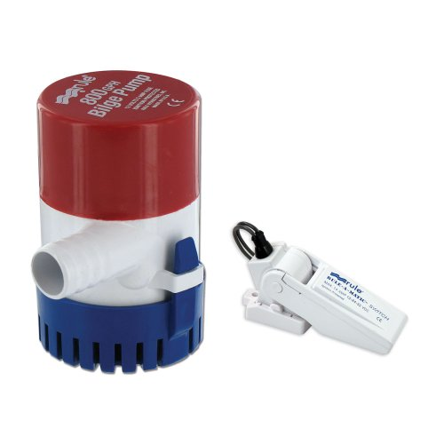 Rule 20R-35A Submersible Bilge Pump with A-Matic Float Switch, 800 GPH, 12 Volt