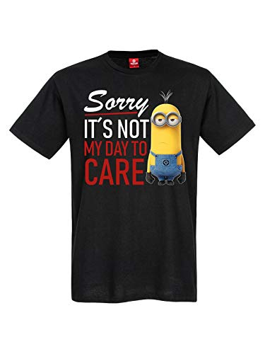 MINIONS Sorry, It is Not My Day to Care Männer T-Shirt schwarz XL