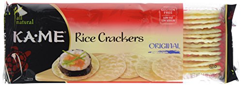 Ka-Me Rice Crunch Crackers, Plain, 3.5 oz
