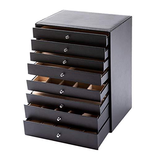 LTLGHY Caja Joyero Extra Grande, Organizador De Joyas De 8 Capas, Pendientes, Gafas De Sol Pulseras Relojes Collares Anillos Regalo para Seres Queridos Reutilizable