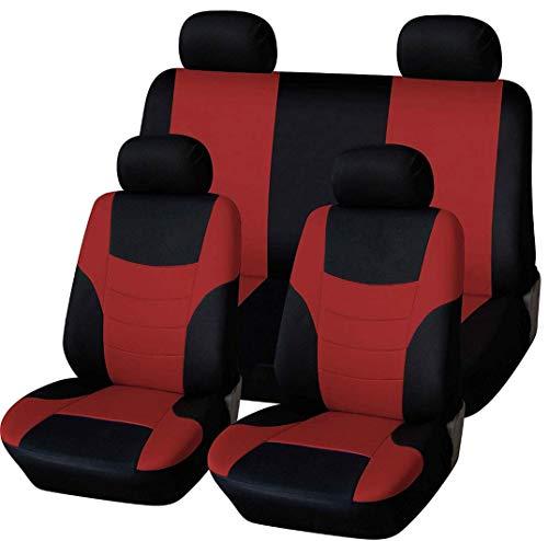 Autositzbezüge, vollständiges 8er-Set, Vorder- und Rücksitzbezüge, Universal-Sitzbezug, Rot