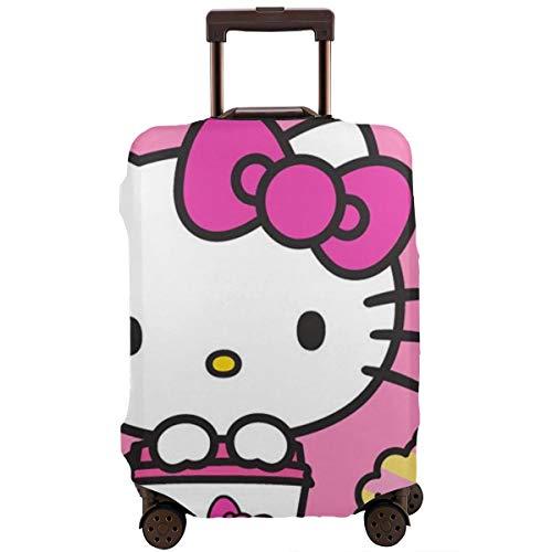 Copertura per bagaglio da viaggio Hello Kitty con Dounts Valigia protettiva lavabile 46-81 cm, Infradito colorati estivi, con finte perline (Bianco) - CHLING-33151914-White-30