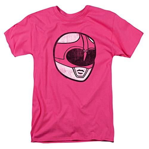 Power Rangers Pink Ranger Mask T Shirt & Stickers (Medium)