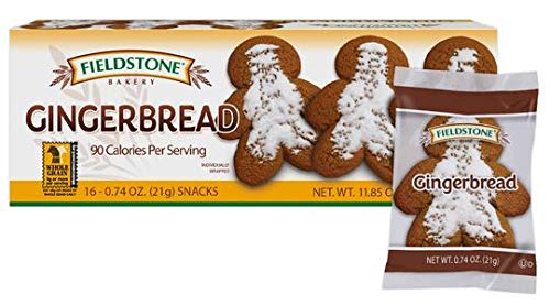 Fieldstone Bakery Gingerbread Cookies, 8 Boxes, 128 Individually Wrapped Cookies