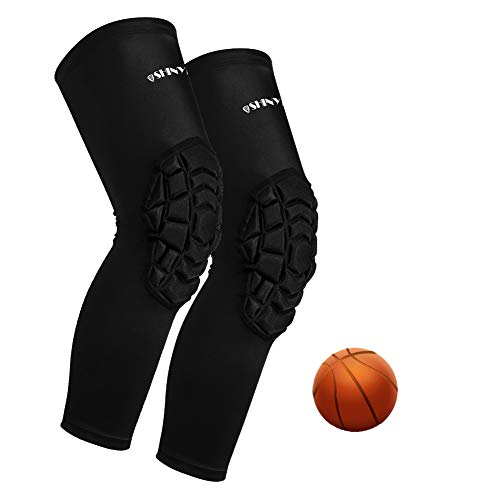 ShinyPro Knee Compression Sleeves with Pads, Knee Braces for Men & Women Athlete, Perfect Joint Pain...