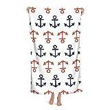 Toallas de baño náuticas, anclas, azules, rojas, estéticas y frescas toallas de baño Toallas de Baño Grandes Unisex 122 x 90 cm